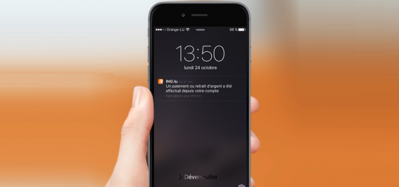 """Mobile banking: Notifications push disponibles sur """"My ING"""""""