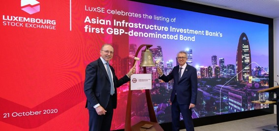 LuxSE and AIIB celebrate landmark Sterling issuance