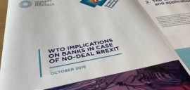 Brexit: WTO implications for banks in case of no-deal