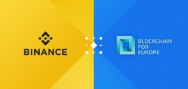 Binance rejoint Blockchain for Europe